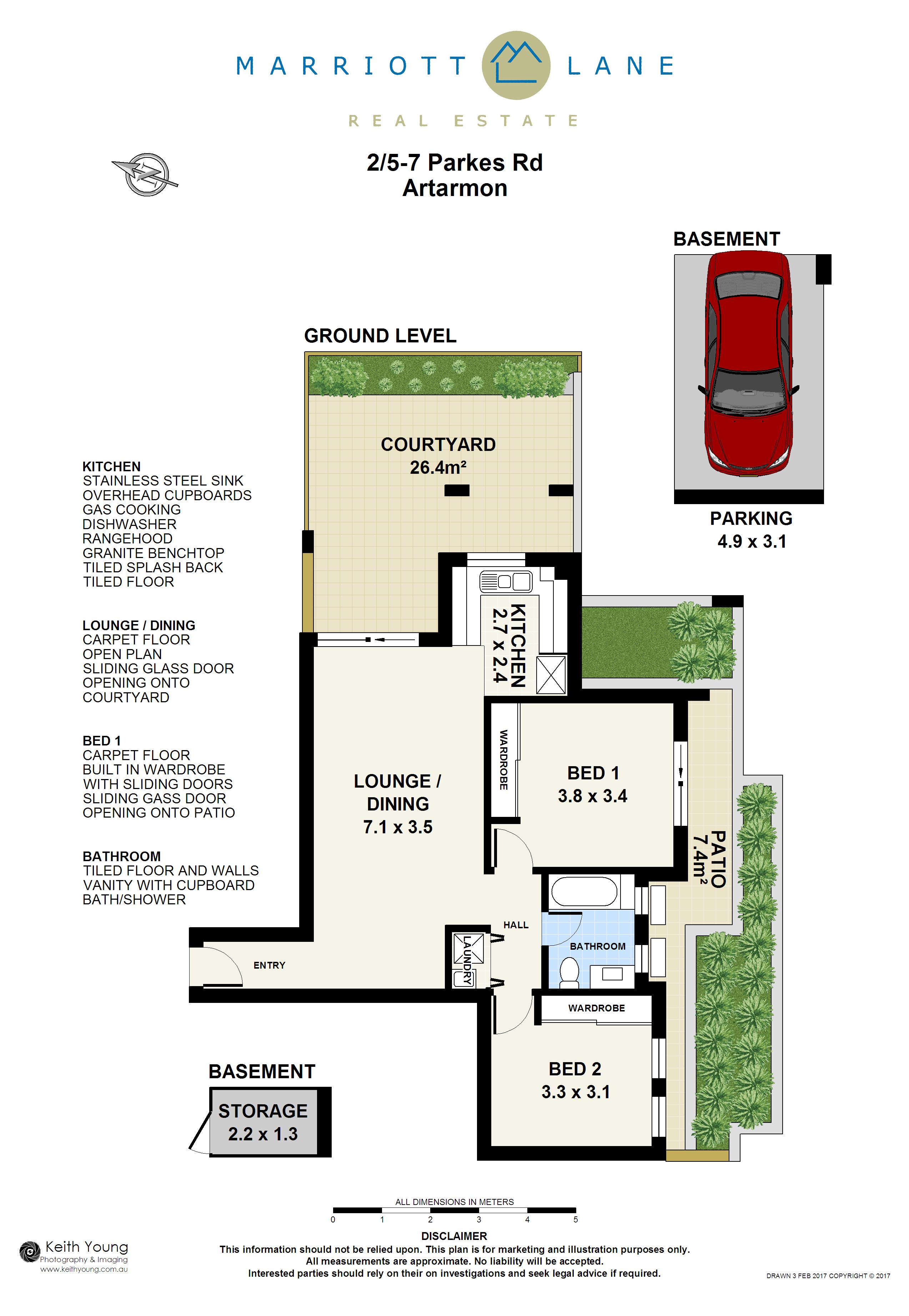 Floorplan  sc 1 st  Marriott Lane Real Estate & 2/5-7 Parkes Road Artarmon NSW 2064 - Unit Sold - marriottlane.com.au