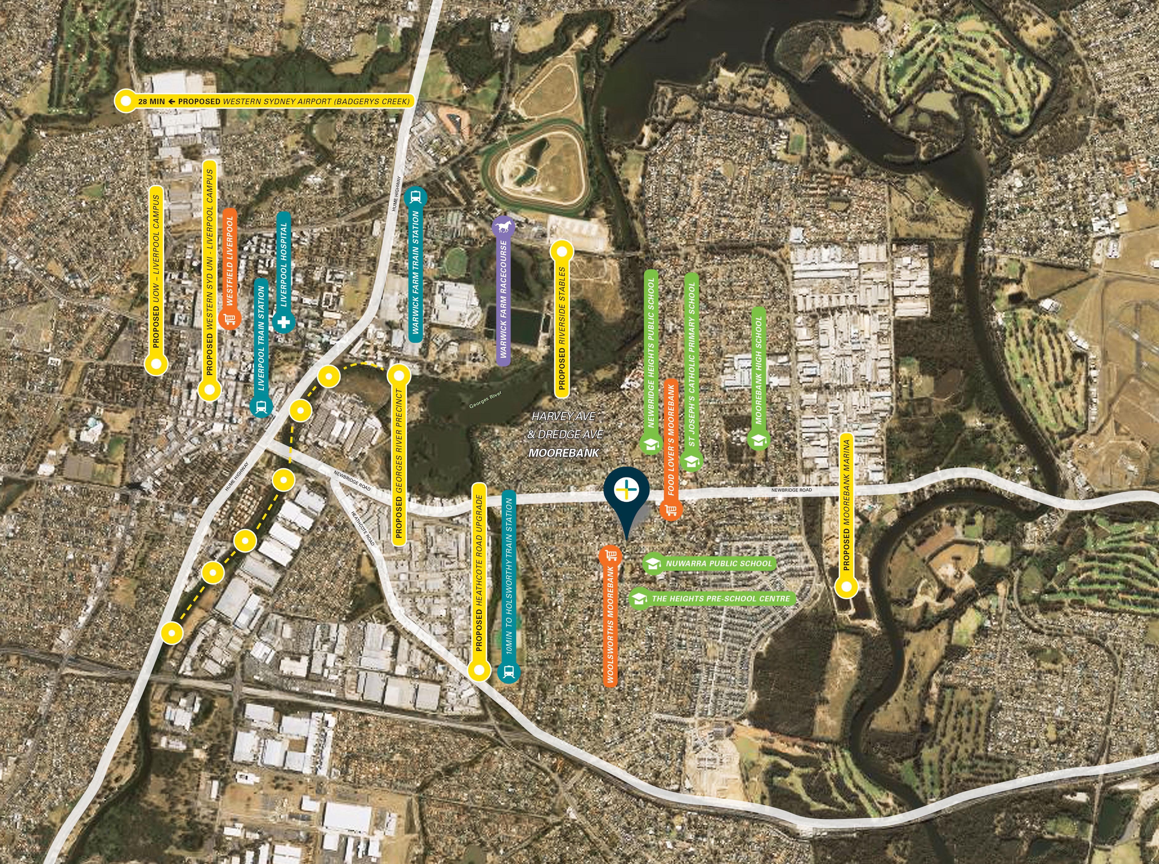 Aerial view of Moorebank site
